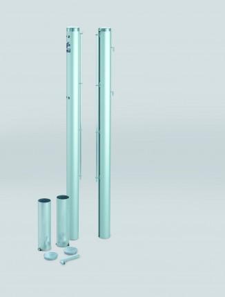 Tennispalen, geëloxeerd aluminium, diameter 83 mm, rond, kleur: zilver