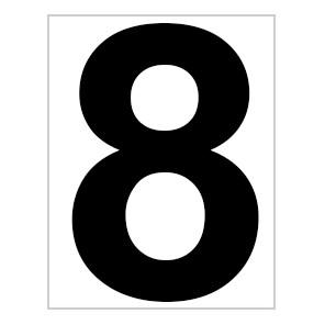 Bord met baannummer 8