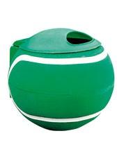 Afvalbak, balvorm, groen