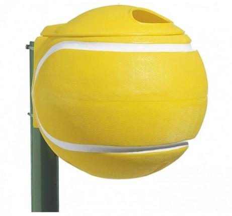 Afvalbak, balvorm, geel