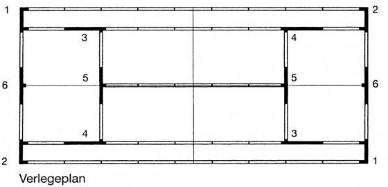 Complete lijnenset, 5 cm. met uitsparingen
