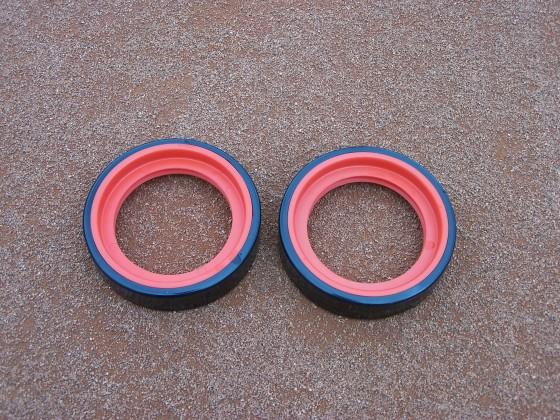 Set wielen voor ASS lijnenveger