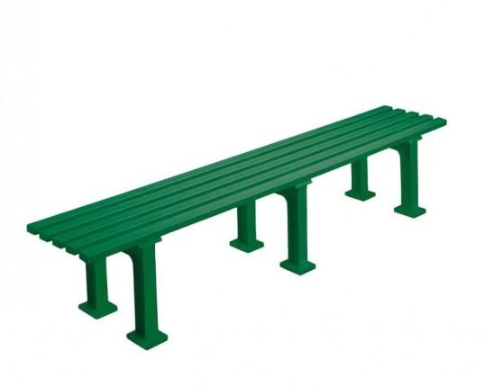 Bank zonder rugleuning, kleur: groen, 200 cm.