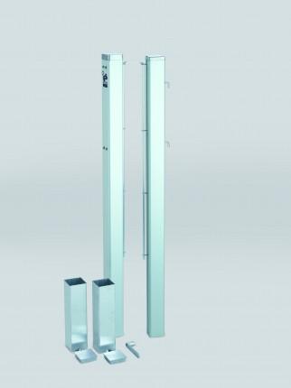 ASS Tennispalen, geëloxeerd aluminium, 80 x 80 mm