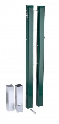 ASS Tennispalen, geëloxeerd aluminium, 80 x 80 mm, levering per paar, kleur: groen