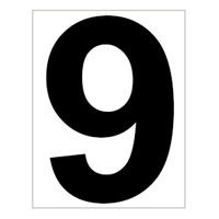 Bord met baannummer 9