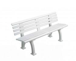 Comfortabele bank met rugleuning, kleur: wit, 150 cm.
