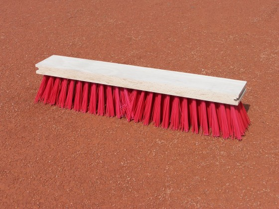 Kunststof vervangings bezem, 50 cm, rood