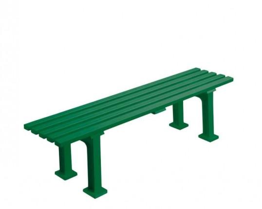 Bank zonder rugleuning, kleur: groen, 150 cm.